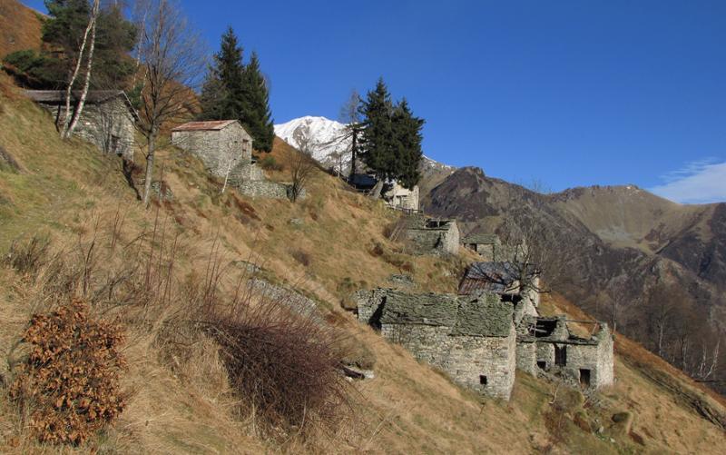 Selle di Rosazza e rifugio Madonna della Neve